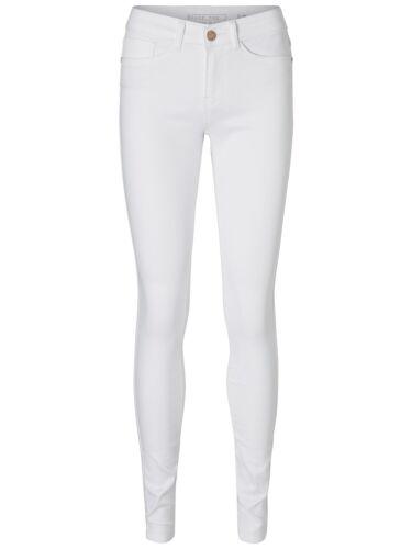 Noisy May Damen Jeans-Hose nmExtreme Lucy Slim elastisch normaler Bund weiß