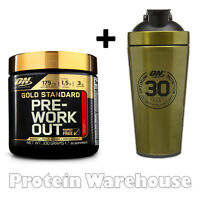 Optimum Nutrition Gold Standard Pre Workout 330g All Flavours + On Gold Shaker