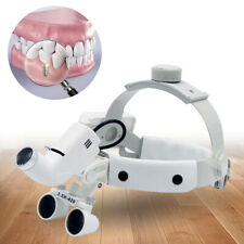 35x Medical Surgical Dental Binocular Loupe Headband Magnifier 5w Led Headlight