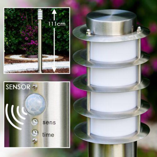 Moderne en acier inoxydable voies socle lampe debout lampe Tunes Jardin Terrasse entrée