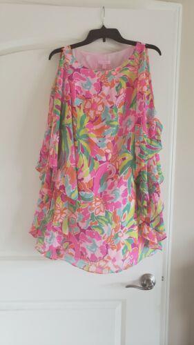 Lilly Pulitzer Marguerite Lulu Caftan Silk Dress F