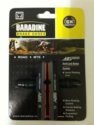 BARADINE ABS TECH bicycle bike replacement brake shoes pads MTB mountain 1-piece