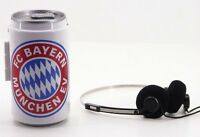Bayern München Walkman Dose Stereo Cassetten Player Kopfhörer Kassetten Neu