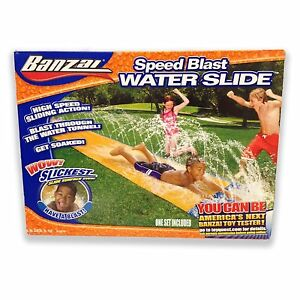 BANZAI SPEED BLAST WATER SLIDE SLIP N SLIDE NEW IN BOX   eBay