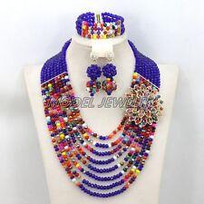 Best Selling Nigerian Crystal Beads Necklace Bracelet Earrings African Jewelry