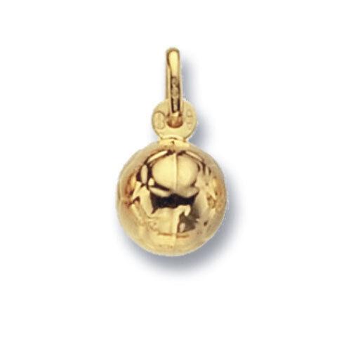 gold Football Pendant Yellow gold Football Charm