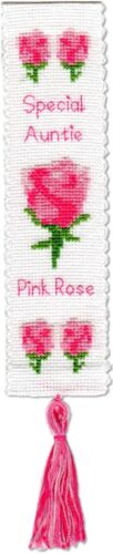 Heather Marcador Personalizado Cross Stitch Kit Fucsia Rosa Shamrock cardo