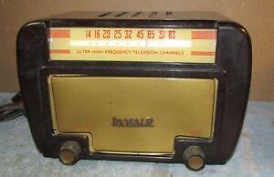 Vtg-DEWALD-H-300-UHF-Television-Converter-Tube-Radio-Cavi-Tuner-Receptor-J328