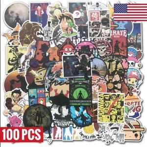 100-Pegatinas-de-Vinilo-Anime-De-Una-Pieza-Bomba-Patineta-Laptop-Equipaje-Etiqueta-de-graffiti