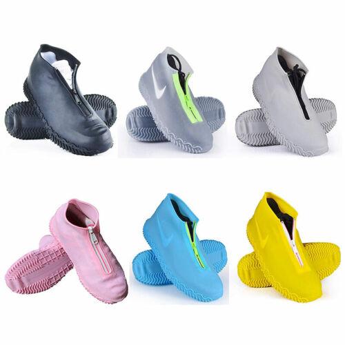 Reusable Rain Snow Shoe Covers Waterproof Overshoes Boot Gear Anti-Slip Foldable