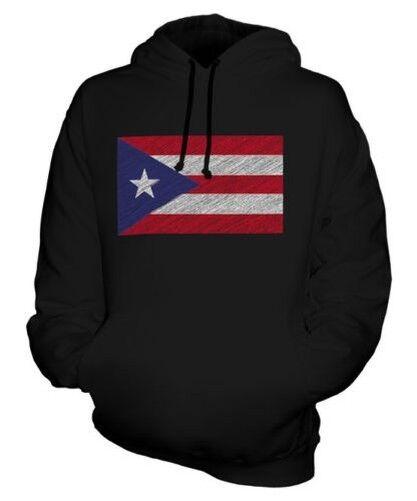 Puerto Rico Scribble Flag Unisex Kapuzenpulli Top Geschenk Rikanische Fußball