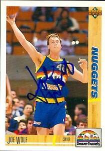 Joe Wolf autographed Basketball card (Denver Nuggets) 1991 Upper Deck #297