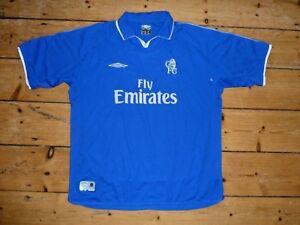 Chelsea-Camiseta-de-Futbol-2001-03-Home-Soccer-Maglia-Camiesta-Talla-XXL
