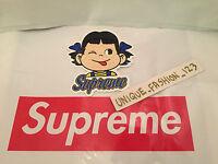 SUPREME CANDY GIRL BLUE RIBBON & TEXT SKATEBOARD VINYL STICKER SS15 BOX LOGO