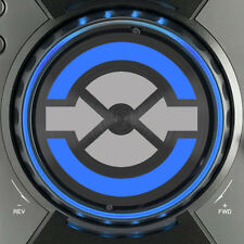 PIONEER CDJ400 TRAKTOR JOG DIAL SLIPMAT GRAPHICS - (SILVER & BLUE)  /  CDJ 400