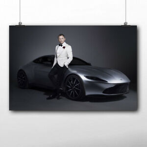 toile tableaux  Daniel Craig James bond 007   50x75 cm