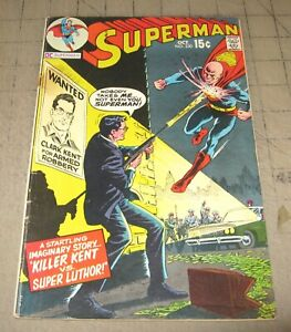 SUPERMAN-230-Oct-1970-Good-Condition-Comic-Killer-Kent-vs-Super-Luthor