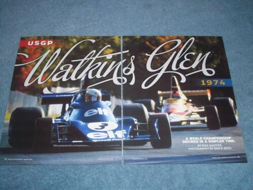 "1974 United States Grand Prix Highlights Article ""Watkins Glen"" From 2014"