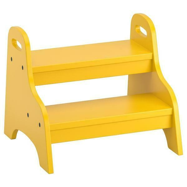 Ikea Tritthocker In Gelb 40x33x38cm Hocker Kindermobel Trittstufe Steighilfe Ebay