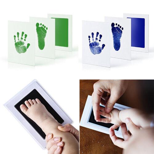 Inkless Wipe Hand/&Foot Print Kit Newborn Children Safe Christmas Gift TP Baby
