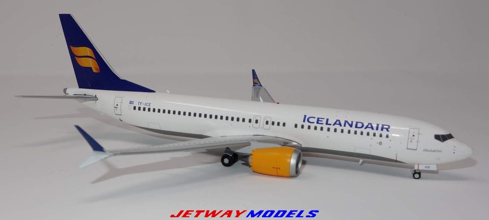 Nouveau 1 200 Gemini jets Icelandair Boeing B 737-8MAX TC-glace modèle G2ICE733