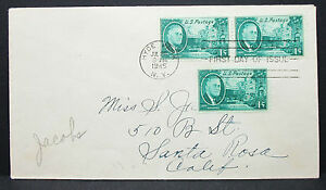 US-Cover-FDC-Hyde-Park-Roosevelt-Pair-1c-Rate-3c-USA-First-Day-H-7159