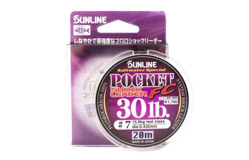 Sunline Fluorocarbon Shock Leader Line Pocket FC 20m 30lb 2415