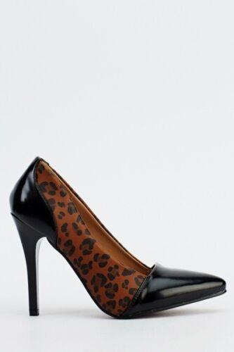Heels Faux Insert Heels Leopard Leather wqwxfTIEg