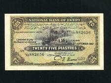 Egypt:P-10c,25 Piastres,1942 * Nile Banks * Nixon Sign * VF-EF *