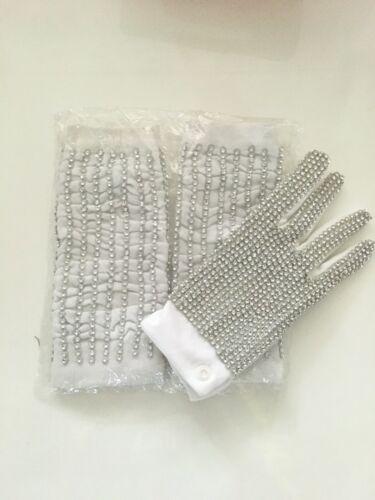 + Strümpfe weiß, rechts, 21,5 cm * 8,5 cm Michael Jackson Handschuh weiß