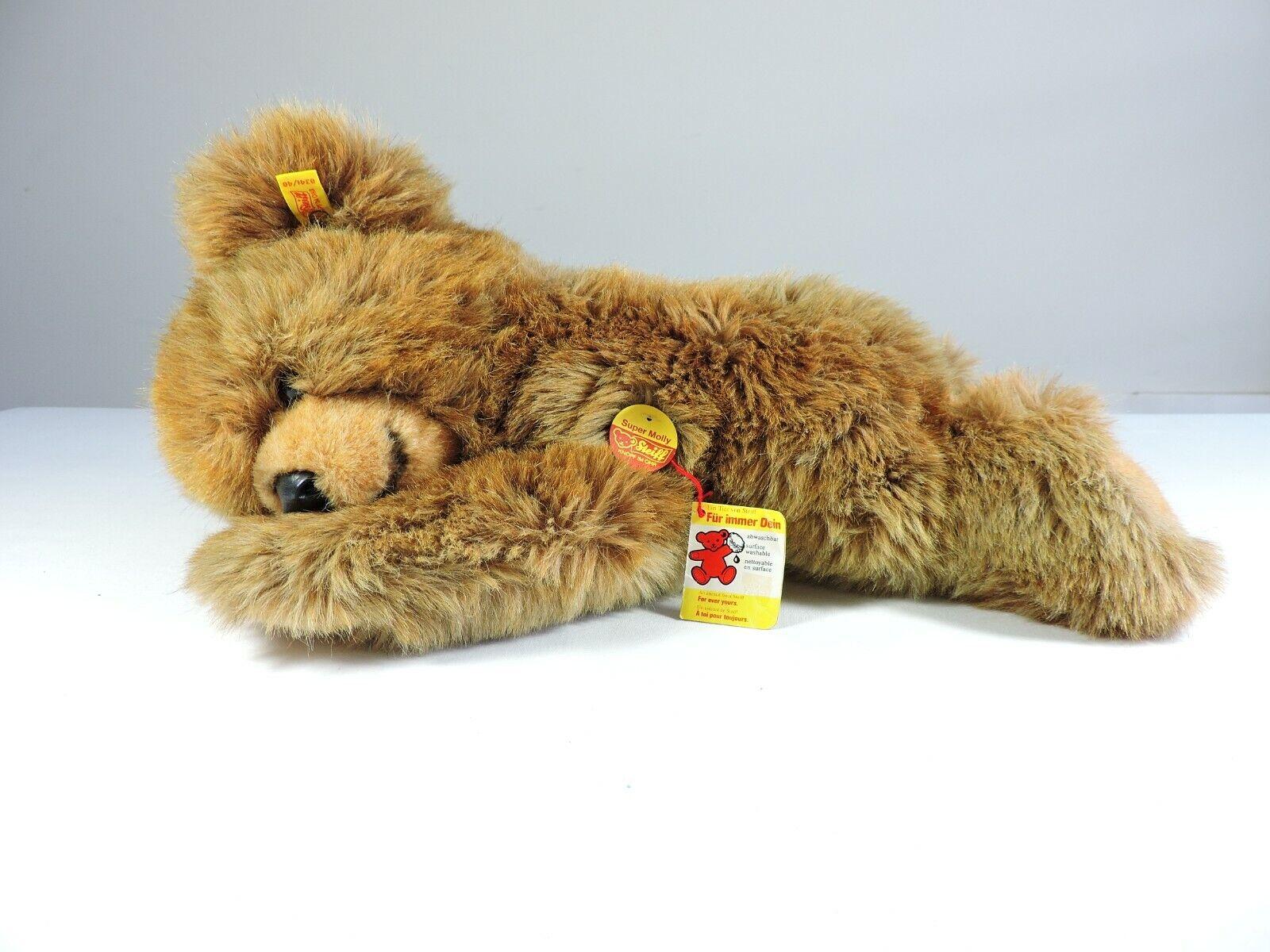 STEIFF Super Molly 18-pollici Orso Plush che dorme di peluche con tag Button