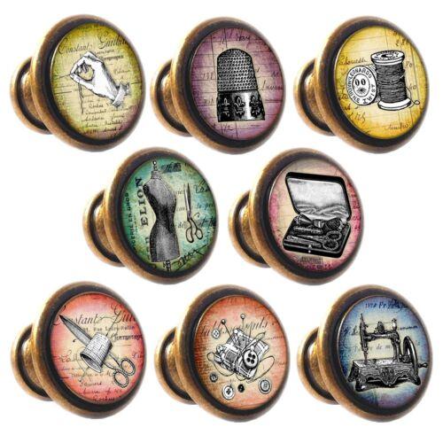 En alliage de zinc boutons vintage couture 30mm placard tiroir poignées de portes décorées