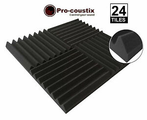 Genuine-Pro-coustix-Ultraflex-Wedge-High-Quality-Acoustic-foam-tiles-24-panels