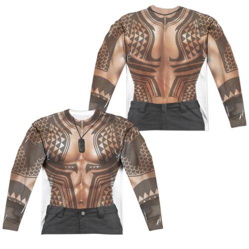 autorizzata Tatuaggi lunghe shirt Sm T taschino da maniche con a grafica uomo da Movie 3xl Aquaman axxTUw1A