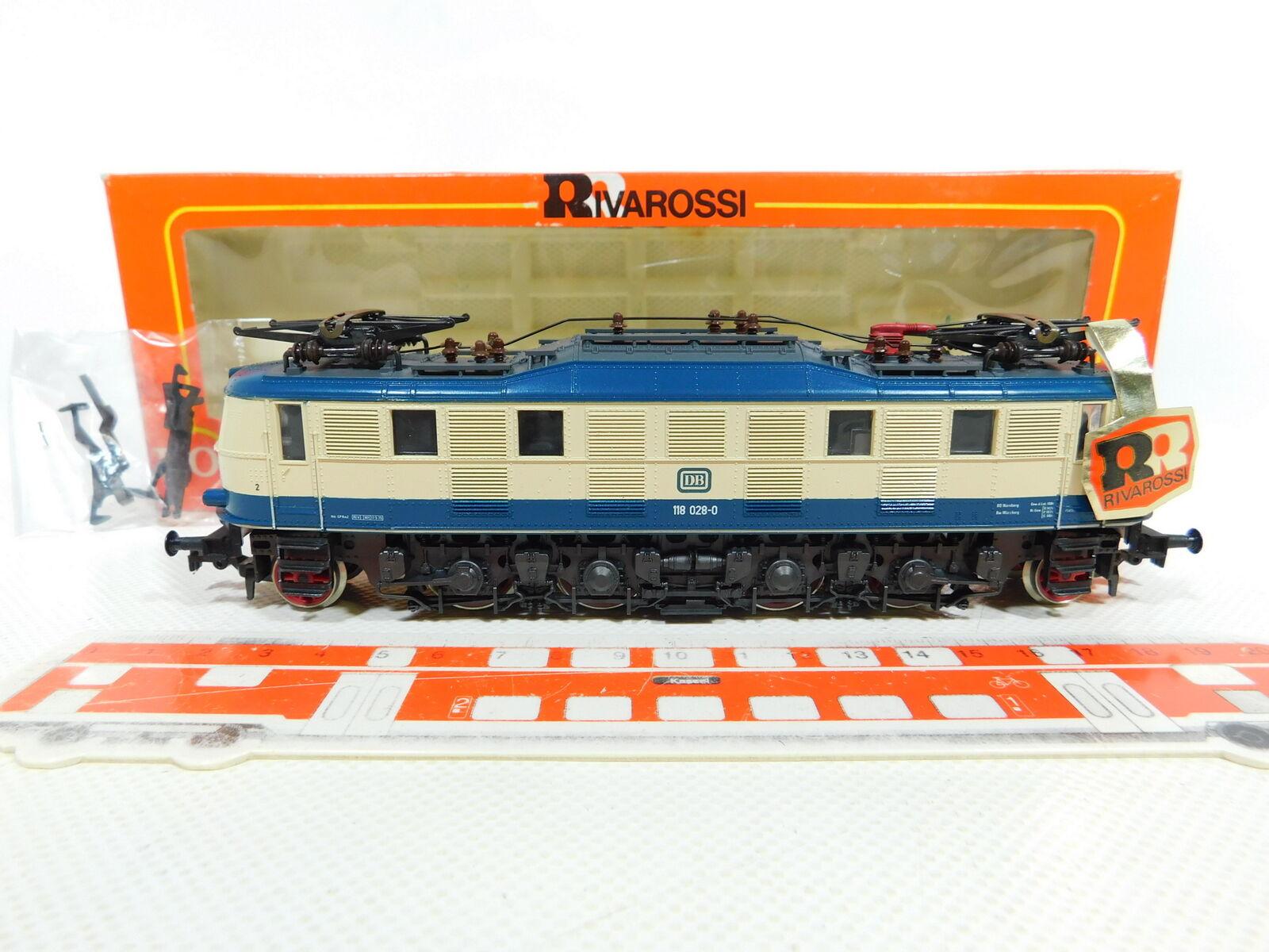 Bv880-1Rivarossi h0 dc 1672 e-LOK e-locomotora 118 028-0 DB, muy bien + embalaje original