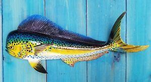 Mahi-Hand-Painted-18-034-Replica-Dorado-Wall-Mount-Sculpture-Game-Fish-Salt-Water