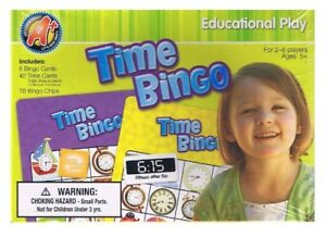 TIME-BINGO-Educational-Play-Learning-Teaching-Game-Ages-5-2-8-Players-NEW