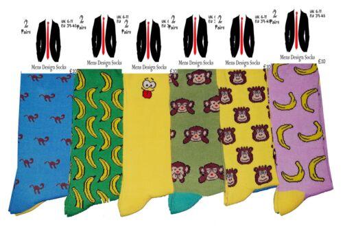 Men/'s Assorted Designs Coton Chaussettes Nouveauté Funky Stocking Filler Cadeau UK 6-11