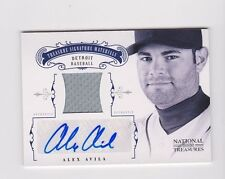 2012 National Treasures ALEX AVILA Game Used Jersey Auto Autograph #2/49