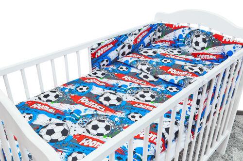 6PC BABY BEDDING SET TO FIT 120x60 COT DUVET PILLOW BUMPER SHEET FOOTBALL