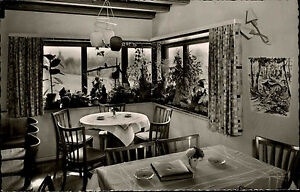 Simonswaelder-Tal-Simonswald-s-w-AK-1950-60-Cafe-Maerchengarten-Innenansicht