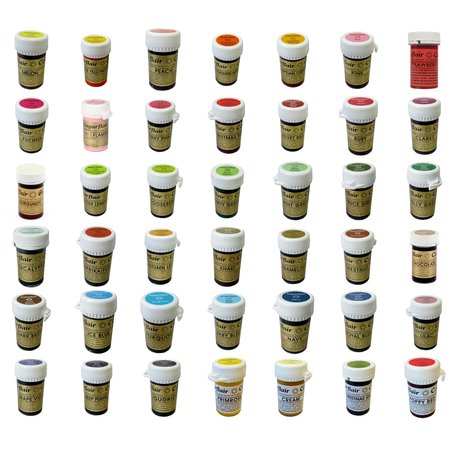 Any 25  Sugarflair Paste Edible Gel Concentrated Icing Food Colouring Colour