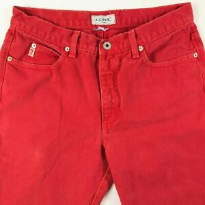 Vtg-Vintage-1980-s-90s-Guess-Jeans-RED-size-31-High-Waist-Mom-Jeans-Womens-Mens