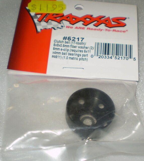 Traxxas 5217 Clutch Bell (17 tooth) 5x8x0.5mm FIber Washer(2)/5mm E-clip new nip