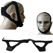 Professional Stop Sleep Snoring Solution Anti Snore Chin Support Strap Belt New