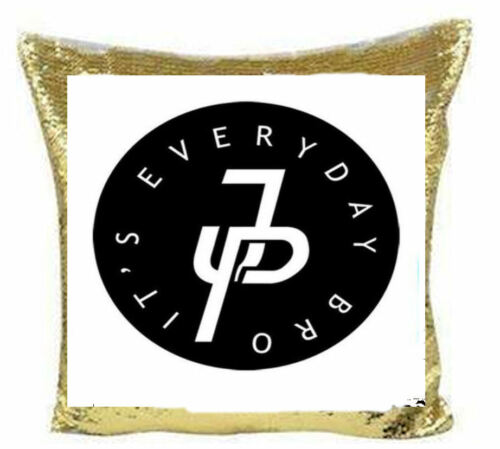 Personalised Jake paul Logang Team 10 sequin cushion Cover  its everyday bro.