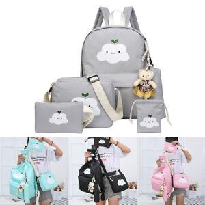 741297e77 Image is loading Kids-Nylon-Backpack-School-Teenagers-Casual-Travel-Bags-