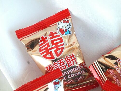 60 or happy hello kitty fortune cookies Chinois Mariage Fête D/'anniversaire Faveur