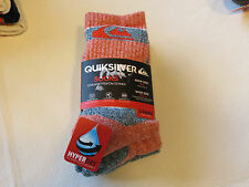 Quiksilver Boys 3 Pair Crew Socks Size 6-8 shoe size 10.5-4 06323T red & blue