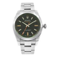 Rolex Milgauss Black Index Dial Orange Hand Automatic Steel Mens Watch 116400GV